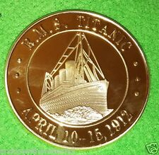 TITANIC COIN Golden Medallion London New York City United States Man Made Retro