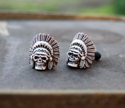 Native American Indian Chief Skull License plate bolts,frame screw,motorcycle
