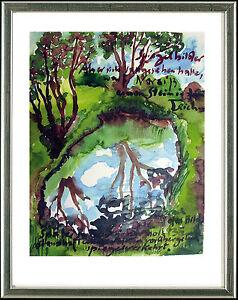 Guenter-Grass-geb-1927-sign-num-Original-Graphik-034-Spiegelbilder-034-2006