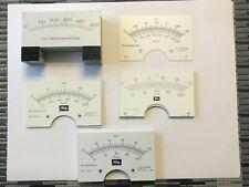 Huge Lot Original Modutec Amp Hoyt Meter Faces 0 10kv 0 20ma 500ua 0 2kv 0 100ma