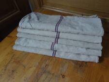 Antique European Feed Sack GRAIN SACK Mixed Color Stripe # 10657