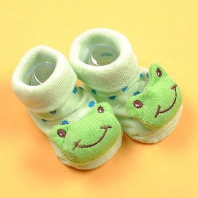 Newborn Baby Girl Boy Unisex Anti-slip Socks Shoes Slippers Animal Boots 0-6M