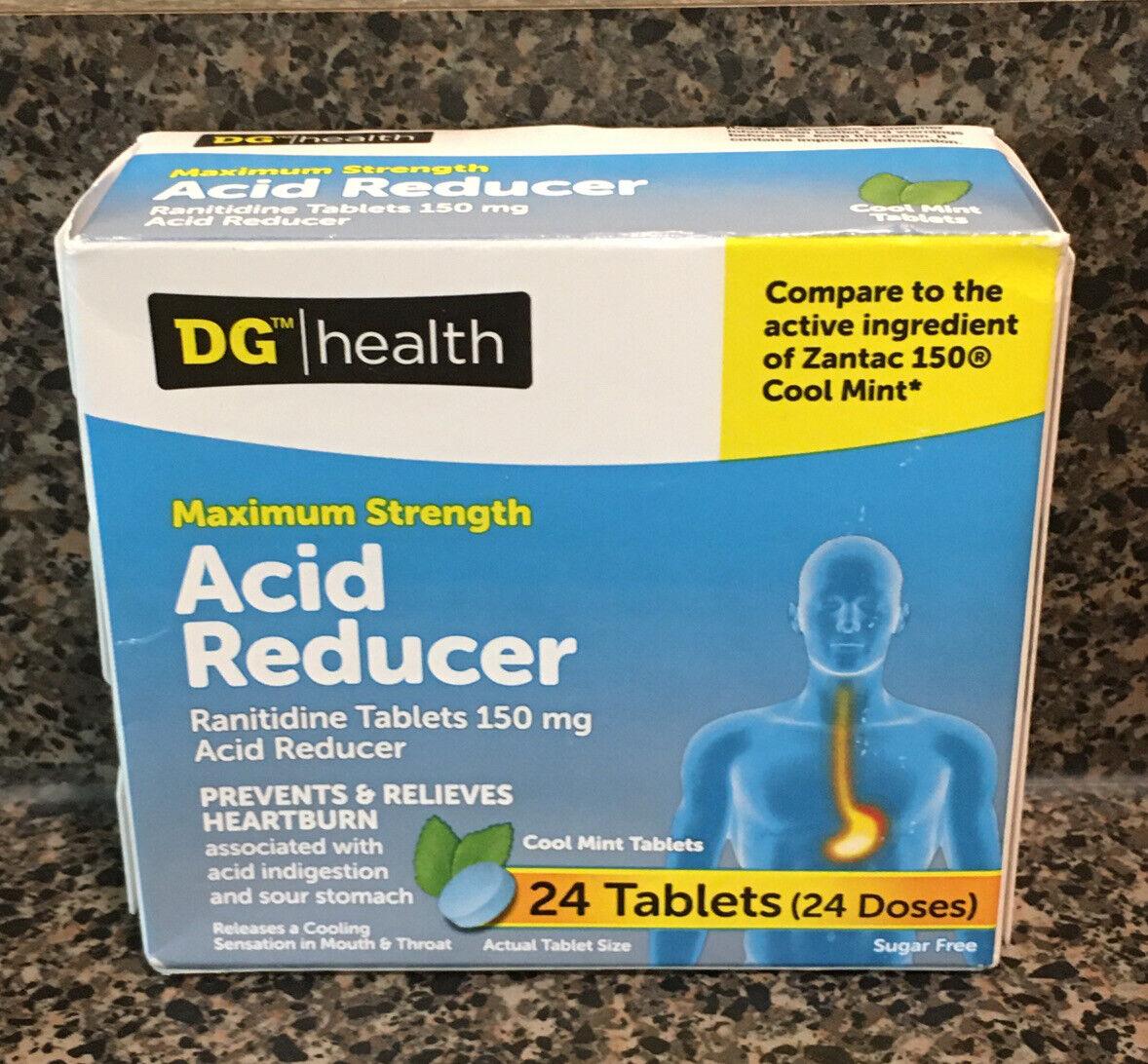 Acid Reducer 150 Maximum Strength HEARTBURN RELIEF 24 Tablets 10/20 Cool Mint 1