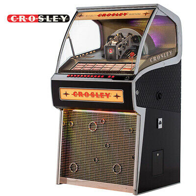 NEW Crosley CR1210A-BK Rocket 45 Vintage Vinyl Jukebox Record Player -  Black 710244214254 | eBay