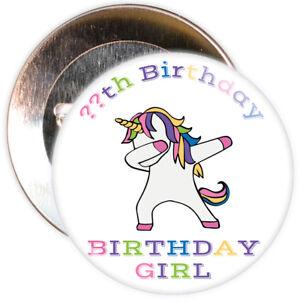 59mm Badge 11th Birthday /'Personalised/' Happy  Birthday Celebration Badge