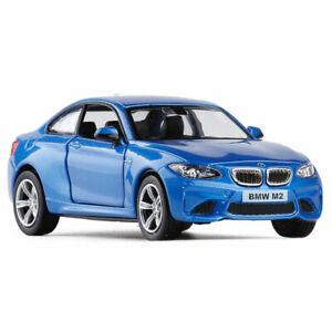 1-36-BMW-M2-Die-Cast-Modellauto-Auto-Spielzeug-Model-Sammlung-Pull-Back-Blau