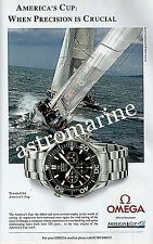 OMEGA SEAMASTER AMERICAS CUP WATCH ADVERT 2002 Advertisement