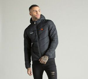 b0b46f33a7 Details about Mens Ellesse Gintino Black Reflective Down Jacket RRP £74.99