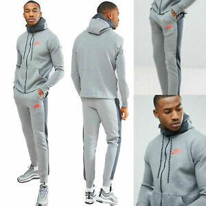 Details about New Mens Nike Air Tracksuit Top Bottoms Fleece Hoodie Jogger Grey All Sizes
