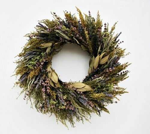 18  FRAGRANT DRIED LAVENDER HERB WREATH SCENT RUSTIC COUNTRY WALL HANG DECOR fp