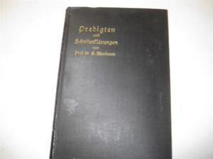 1910-GERMAN-JUDAICA-Predigten-by-Siegmund-Maybaum-SERMONS-Important