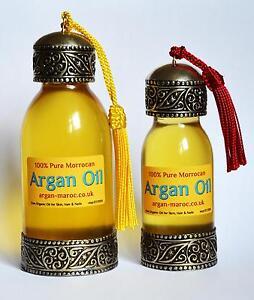 100-Pure-Organic-ARGAN-OIL-Moroccan-Skin-Body-amp-Hair-handmade-glass-bottles