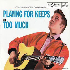 ELVIS-PRESLEY-Playing-For-Keeps-amp-Too-Much-PICTURE-SLEEVE-RED-VINYL-7-034-45-NEW