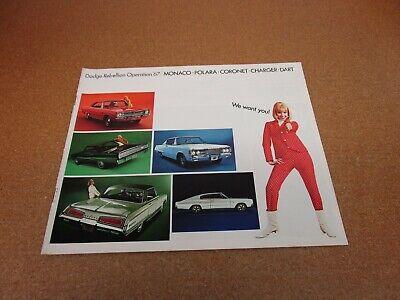 1967 Dodge Charger Coronet Dart Polara Monaco FL Vintage Dealer Sales Brochure
