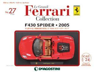 1-24-le-Grandi-Ferrari-Modello-Auto-Pressofuso-No27-F430-Ragno-2005-F-S