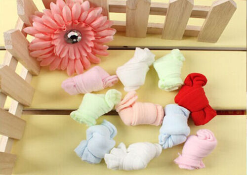 NEW10 Pair Lovely Newborn Baby Girls Boys Soft Socks Mixed Color Unique design^D