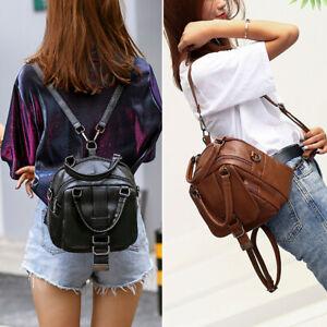 Women-Bag-Leather-Backpack-Double-Shoulder-Messenger-Satchel-Handbag-Travel-Lady