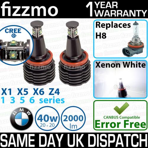 Fizzmo BMW H8 40W CREE LED ANGEL EYE Halo Anello Lampadina Xenon Bianco privo di errori