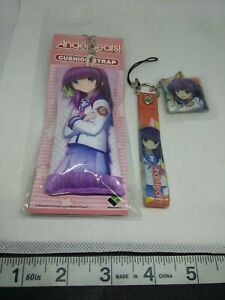 2pc-Angel-Beats-Figur-Pluesch-Schluesselanhaenger-Strap-Anhaenger-Japan-Kawaii-Anime-Lot
