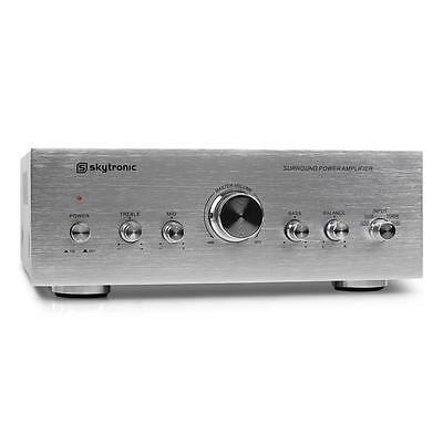 NEW COMPACT BRUSHED ALUMINIUM FINISH HI-FI AMP 4X RCA * FREE P&P UK OFFER *