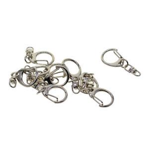 Lot 10pcs Lobster Swivel Clasps Clips Key Ring Chain Hook Key Findings Keychain