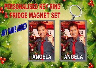 Cliff Richard Key Ring /& Fridge Magnet Set