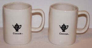 LOVELY-PAIR-OF-RAE-DUNN-ARTISAN-COLLECTION-BY-MAGENTA-COCOA-4-5-8-034-MUGS