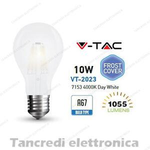 Lampadina-led-V-TAC-10W-E27-bianco-naturale-4000K-VT-2023-A67-bianca-filamento
