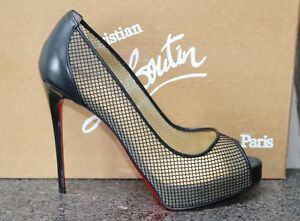 separation shoes 287fa beeab Details about NIB Christian Louboutin VERY RETE 120 RETE MINI MESH PLATFORM  HIGH Shoes 37.5