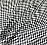 "Black & White Houndstooth Check Satin Fabric 48""W DRAPE DRESS SHIRT TABLECLOTH"