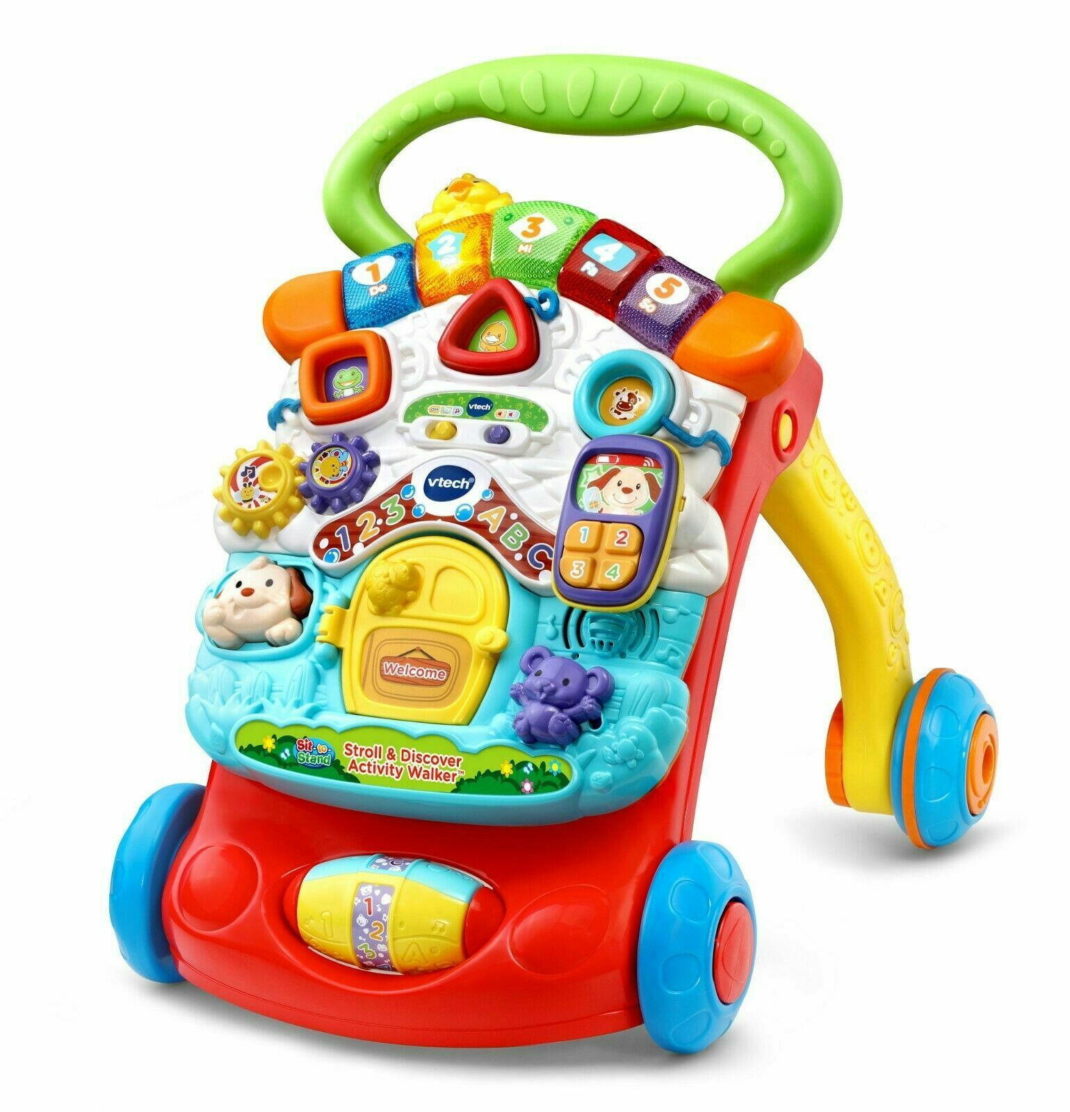 VTech Stroll & Discover Activity Walker 100+ songs, songs, songs, melodies, sounds and phrases 9493ab
