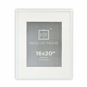 image is loading 16x20 white photo frame with ivory color mat
