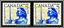 2x CANADA 1960 CANADIAN DOLLARD DES ORMEAUX MINT FV FACE 10 CENT MNH STAMP LOT