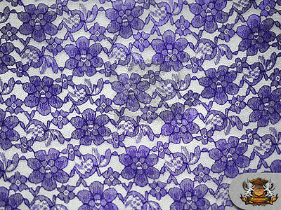 "Lace Floral Rachelle Fabrics / 60"" Wide / Sold by the yard"