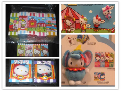 2013 Hong Kong McDonald/'s Circus of Life x Hello Kitty 7 plush full set limited