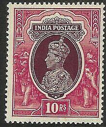 INDIA-1937-10r-PURPLE-amp-CLARET-SG-262-LMM