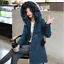 Women  Winter Big Fur Hooded Parka Cotton Warm Long Coat Ladies Cotton Jacket