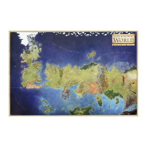 Details about Game Of Thrones Map Of The Known World Tv Show Poster on game of thrones continents, sca known world map, ice and fire world map, game of thrones world map pdf, game of thrones chart, game of thrones maps and families,