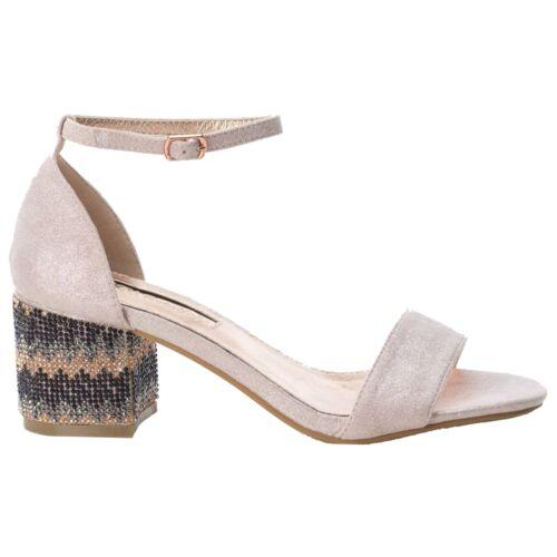 30702 Schuhe Glitter Xti Blockabsatz Shimmer Antelina Sandalen Nude mann 8FUCq4Wwq