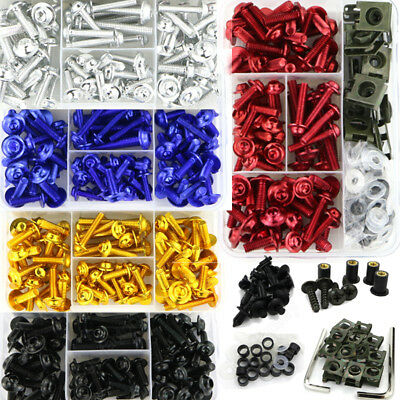 CNC Alloy Motorcycle Complete Fairing Bolt Kits Bodywork Screws Nuts Fit For BMW