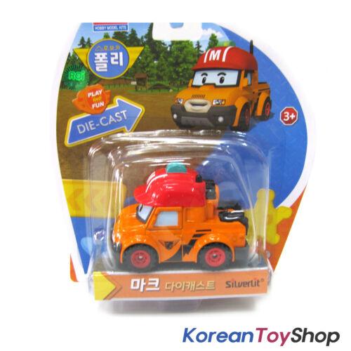 Robocar Poli Diecast Metal MARK /& BUCKY 2 pcs Set Figure Toy Academy Genuine