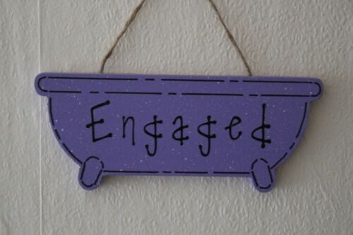 Lovely Decorative Handcrafted Purple Haze ENGAGED VACANT Sign