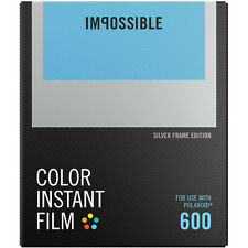Impossible Instant Color Film Silver Frames for Polaroid 600 type cameras 4527