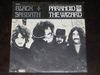 Black Sabbath rare '70 Dutch 1st press 45 Paranoid / The Wizard on PS  TOP COPY