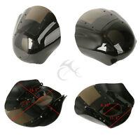 Quarter Fairing & Smoke Windshield For Harley Xl 883 1200 1988-up Dyna 1995-2005