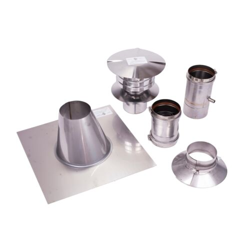 4 Vertical Stainless Steel Z-Vent Water Heater Vent Kit