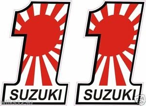 X Suzuki Motorcycle Japanese Bike Flag Decals Car Van Bus Truck - Suzuki motorcycles stickers