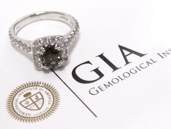 1.02 Ct GIA Certified Oval Alexandrite w/ Round Diamonds Solitaire Ring Size 4.5