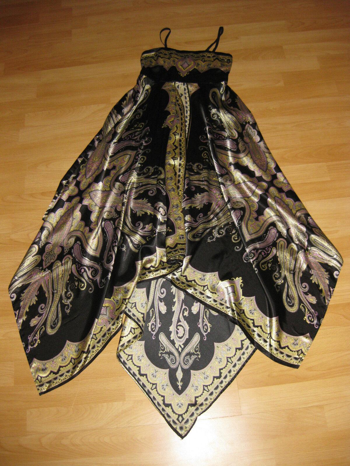 Kleid Kleid Kleid Gr. 34 8 Abendkleid Party Schwarz Gold asymmetrisch Sommer   München  9638e1