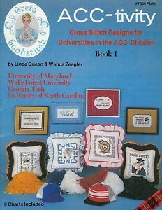 Acc-Tivity-Acc-Division-Punto-Croce-Pattern-Craft-Libro-Georgia-Tech-UNC-UMD